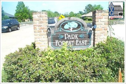 PARK FOREST EAST Subdivision Entrance Sign Baton Rouge LA 70814